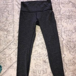 Lululemon Knit Jacquard Black Leggings Size 8